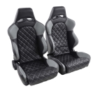 Portseat Set Las Vegas Artificial Leather Black